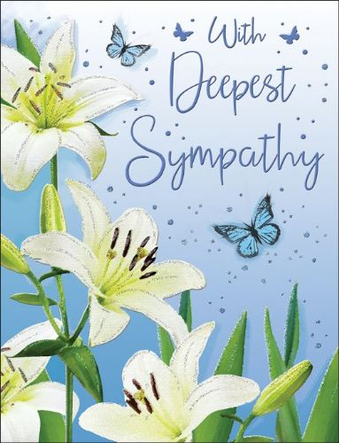 With Deepest Sympathy Butterflies & Lillies